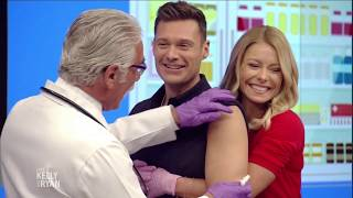 Kelly and Ryan Get Their Annual Flu Shot with Dr. Yapalater