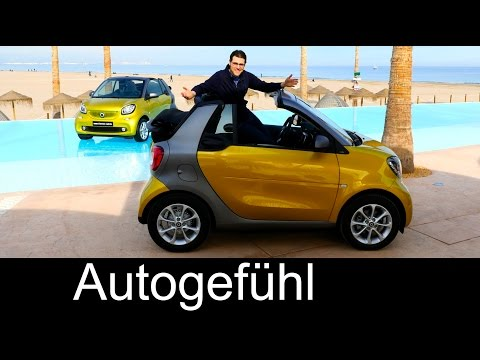 Smart fortwo Cabrio FULL REVIEW test driven all-new convertible passion/prime/Brabus tailormade 2016