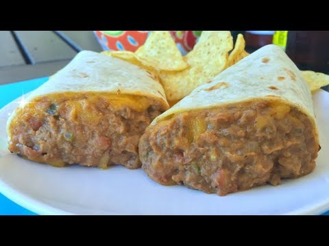 Super Easy Combo Burritos - Drive Thru Style Beef and Bean Burritos