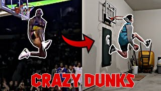 RE-CREATING the BEST NBA DUNK CONTEST DUNKS of ALL TIME | NEA