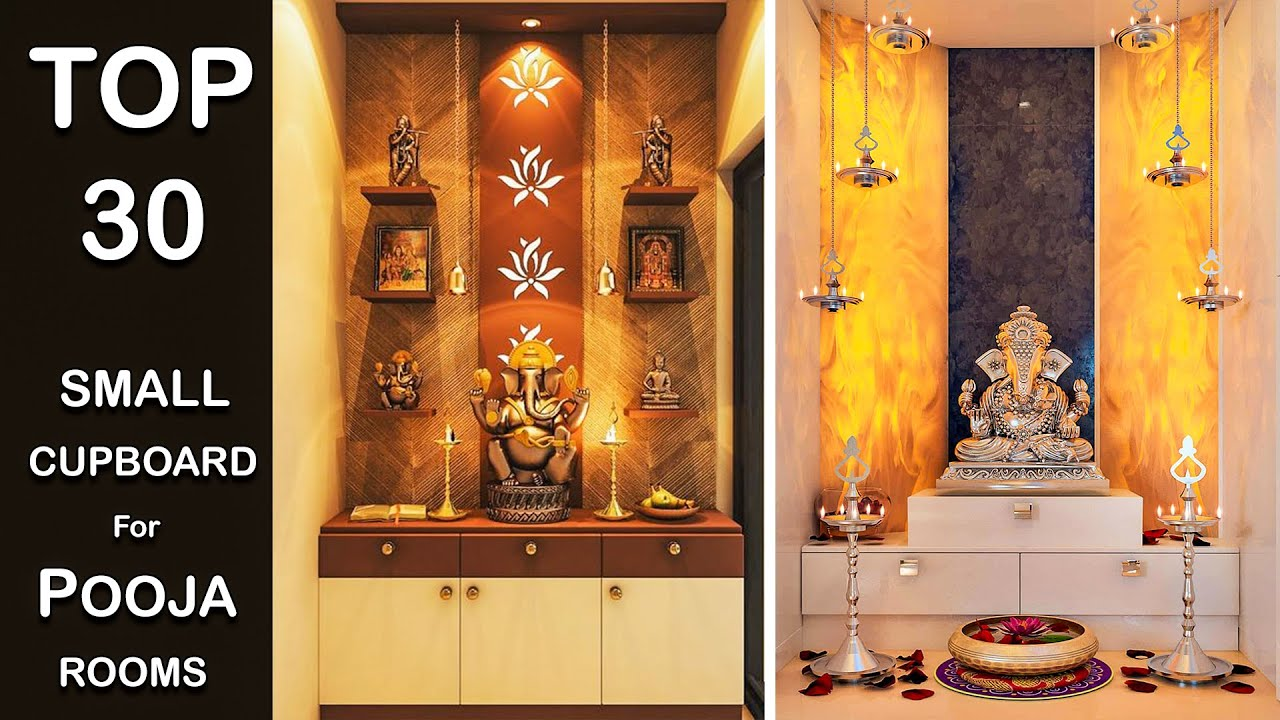 Top 30 Small Pooja Rooms Desgins Simple Pooja Cupboard Designs Small Temple Designs 2020 Youtube