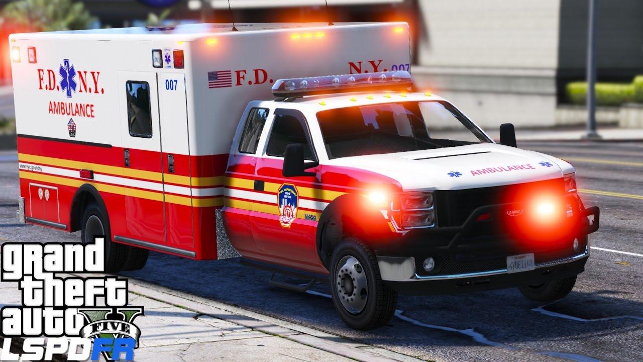 GTA 5 LSPDFR EMS Mod #1 | Playing As A Paramedic Mod |FDNY ...