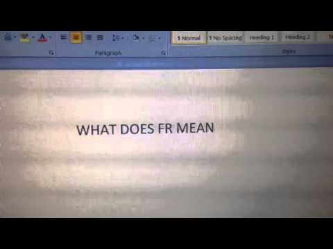What Does Fr Mean >> What Does Fr Mean Youtube
