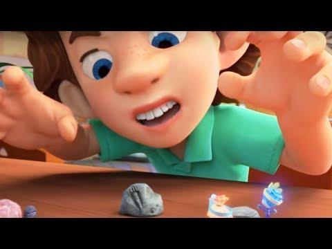 Фиксики - новые серии - Камень (Светофор, Гирлянда, Зубная паста, Лифт, Микробы)