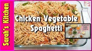 Spaghetti Recipe  Homemade Spaghetti  Chicken Vegetable Spaghetti Recipe  Kids Lunch Box