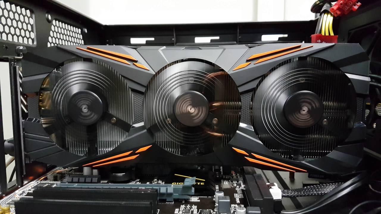 Testing WINDFORCE X3 de GIGABYTE GeForce GTX 1080 G1 GAMING