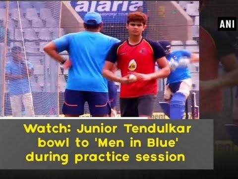 Watch: Junior Tendulkar bowl to 'Men in Blue' during practice session - Maharashtra News