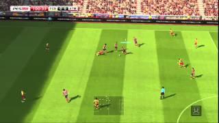 PES   2014  PS3  gameplay  3    dopo  Dlc  definitivo