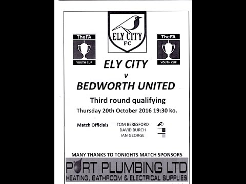 Ely City v Bedworth United FA Youth Cup 3rd Qual Round 20/10/2016