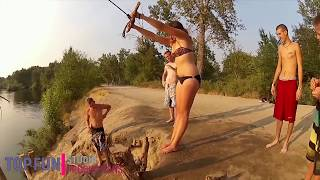 Bikini girl fails