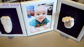 Как сделать отпечаток ножки ребенка из гипса? - How do you mark the baby's legs in plaster ?