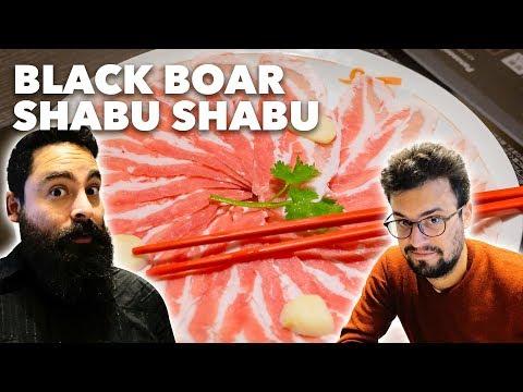 How to Eat SHABU SHABU - Kagoshima Black Boar Meat Course | Hibiya, Tokyo [4K]