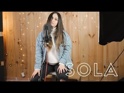 SOLA - LUIS FONSI | COVER ACÚSTICA (CAROLINA GARCIA)