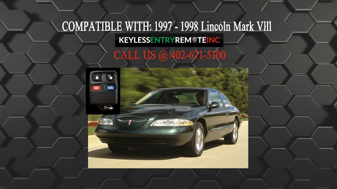 How To Replace Lincoln Mark Vlll Key Fob Battery 1997 1998 Youtube