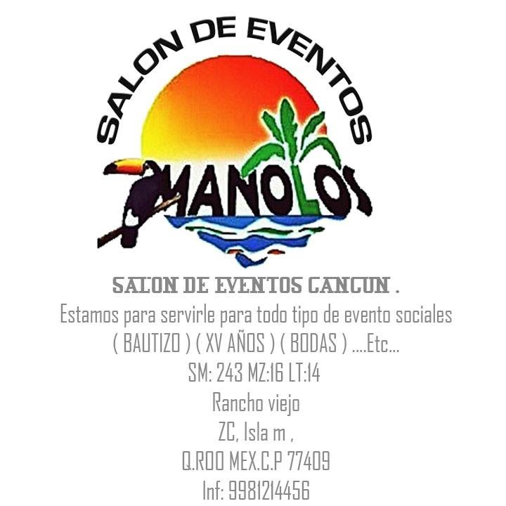 Salon de eventos manolos cancun rancho viejo zc isla m for Actividades de salon