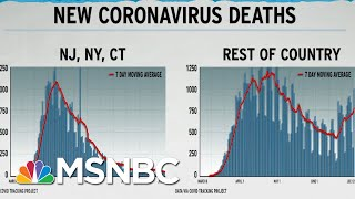 Dire U.S. COVID-19 Death Rate Seen In Graph Excluding NY, NJ, CT | Rachel Maddow | MSNBC