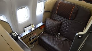 singapore airlines new first class b777 300er singapore to hong kong sq2