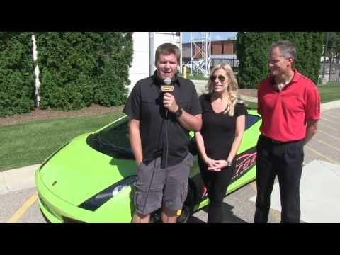 Lisa from the Dave and Chuck the Freak Show on WRIF drives the Lamborghini