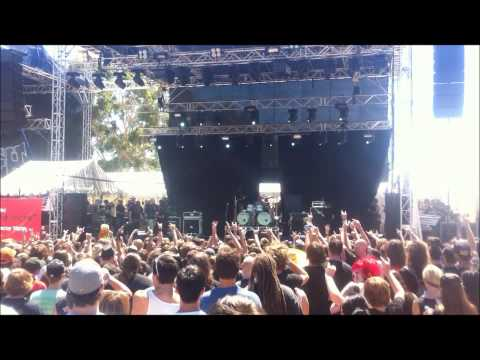 Gojira Featuring Devin Townsend & Fredrik Thordendal of Meshuggah Live Soundwave Perth 2012