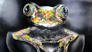 How to Paint a Colorful Frog   Narrated Art Tutorial