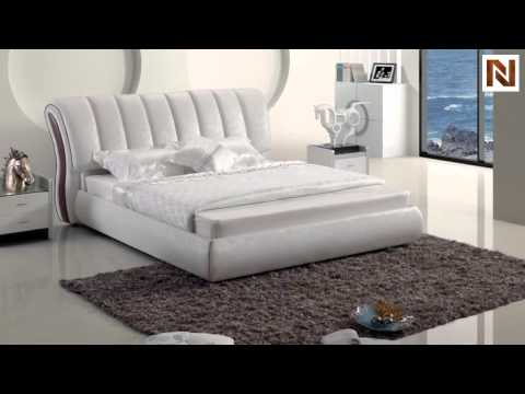 Modern White Leatherette Bed VGSBN 5827 From VIG Furniture