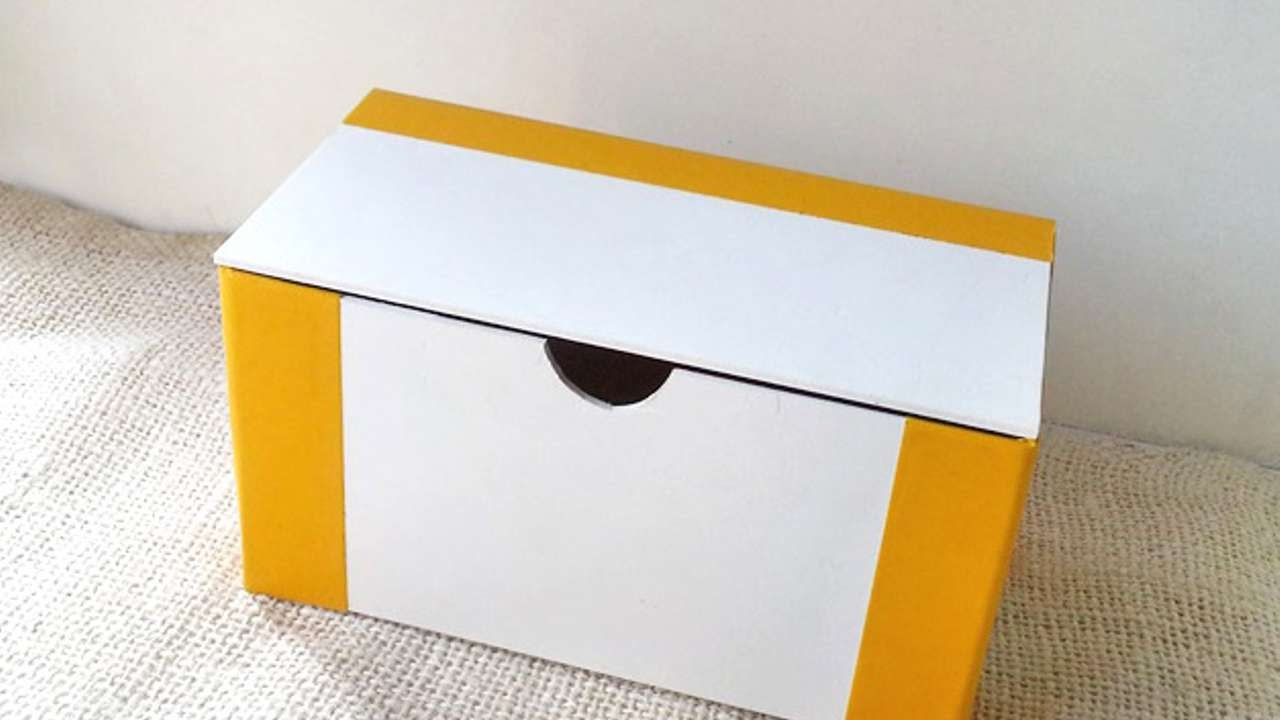 How To Create Foam Board Box With Lid DIY Crafts Tutorial