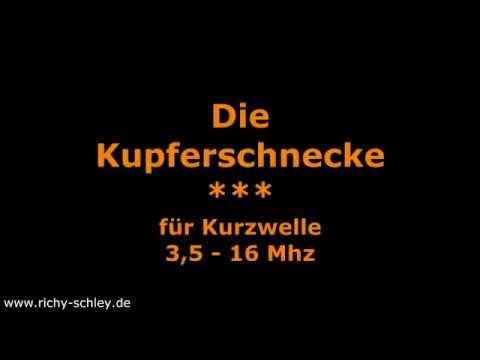 Kupferschnecke Kurzwelle 3.5 - 16 Mhz Copper Spiral Antenna
