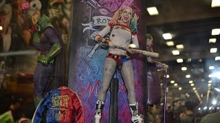 SDCC 2016 Sideshow Collectibles HOT TOYS SUICIDE SQUAD FIGURES! Harley Quinn Joker Deadshot