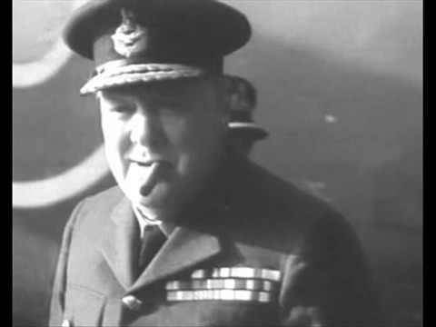 """Winston Churchill delivering his """"finest hour"""" speech - The Finest Channel Intro"""
