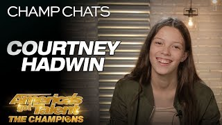 "Courtney Hadwin Chats About Her Original ""Pretty Little Thing"" - America's Got Talent: The Champions"