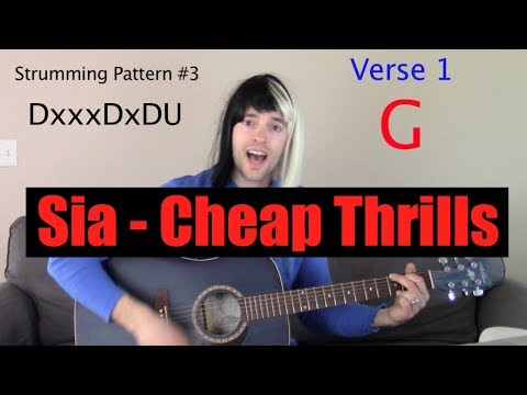 """How to Play """"Cheap Thrills"""" by Sia on Guitar"""
