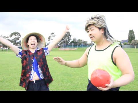 Aussie Teaches China Man - AFL Footy