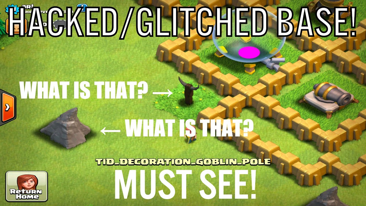 Clash Of Clans HACKED/GLITCHED BASE! MUST SEE! WEIRD VILLAGE