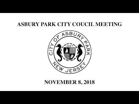 Asbury Park City Council Meeting - November 8, 2018
