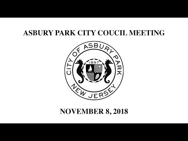 Asbury Park City Council Meeting - November 8, 2018