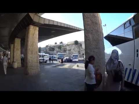 East Jerusalem Central Bus Station & the Calvary (Golgotha) of the Garden Tomb