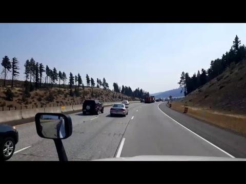 BigRigTravels LIVE! Snoqualmie to Bristol, Washington Interstate 90 East-Sept. 1, 2017