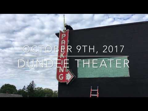 Dundee Theater Neon Parking Sign Comes Down
