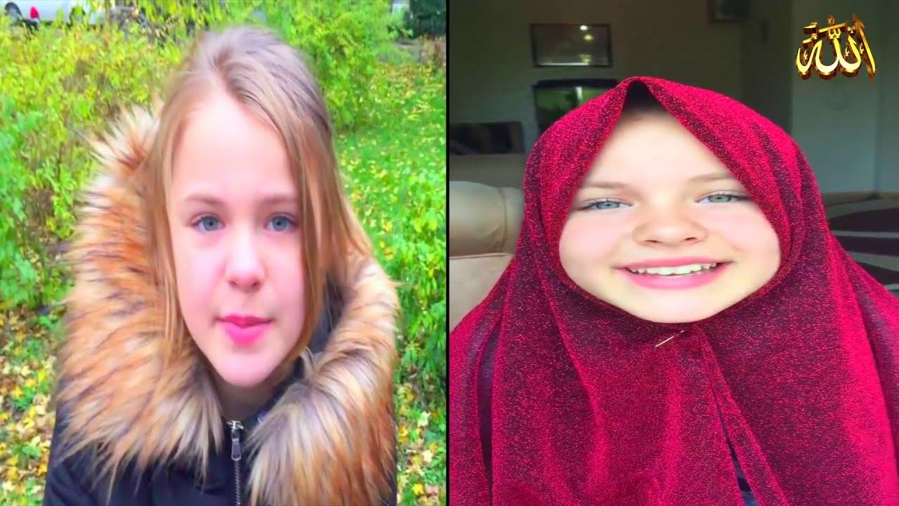 فتاة أوكرانية ـ تشارك فرحتها 😍 بحفظ ( سور من القرأن الكريم )
