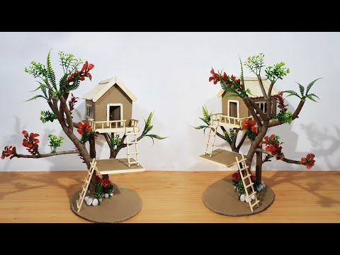 Miniature Tree House | Popsicle Stick  Tree House | Best Out of Waste |DIY|