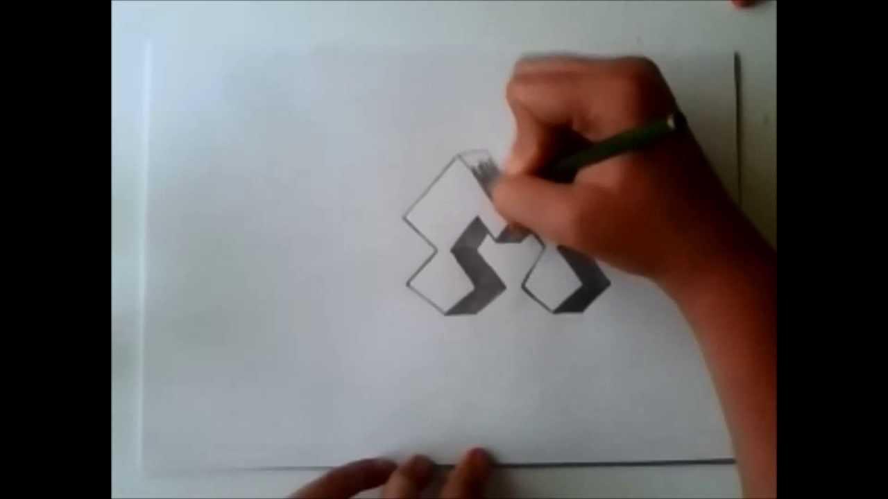How To Draw Letter M In 3D Kako Nacrtati 3D Slovo M