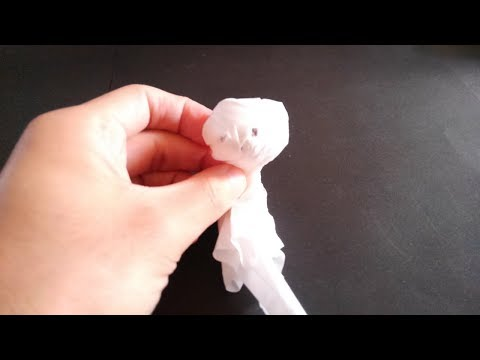 How to Make a paper doll for fine weather 折り紙 てるてる坊主の折り方youtube@@tv
