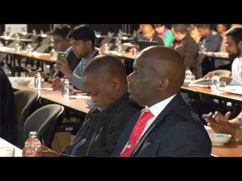 Minister Jeff Radebe at the Planning Africa conference