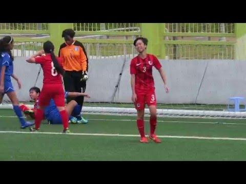 香港vs關島(2016.4.9.賽馬會女子國際青年足球U14邀請賽)之入球1:0~香港9號 郭藹嵐