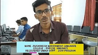 Rushikesh Junghare's Live Review of DTPP program...