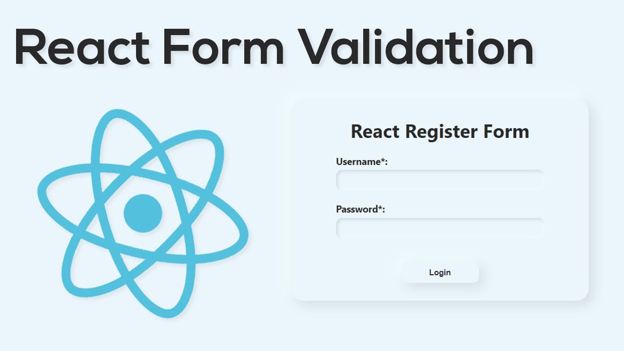 React Forms With Validation Using Hooks - React JavaScript Tutorial