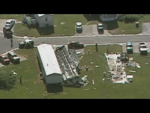Aerial footage shows extent of damage of US storms