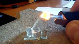 Melting Glass with a Jet Lighter