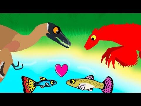 Dinosaurs Cartoons - Dinosaur & Little Fish | Dinosaurs - GreenSpino