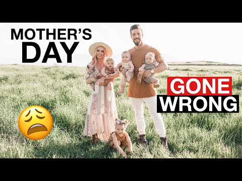 Mother's Day pictures with 4 babies gone WRONG